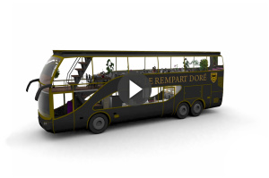"10/2012 Mon Camion Resto - ""Bus Restaurant"" - 3D, Animation, Design : Flab"