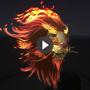 02/2018 Fire Lion - illustration 3D Tilt Brush : Flab